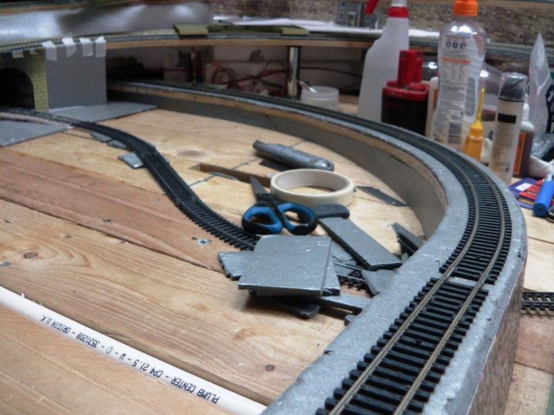 Model Railway Layout With 10mm Track Screws Holding Hornby Track
